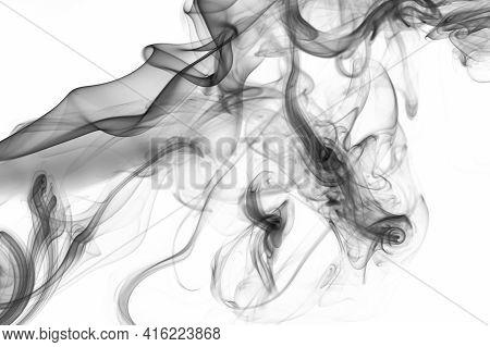 Mystery Gray Smoke Swirl Wallpaper