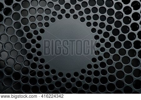 Vent Holes In Plastic Background