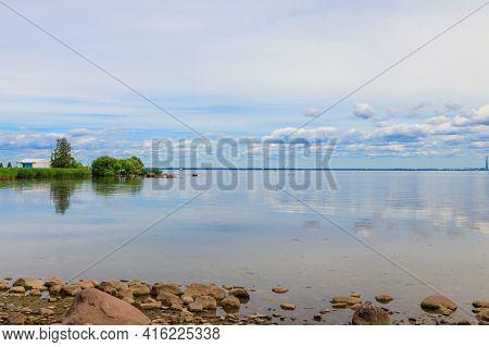 View Of The Gulf Of Finland Near St. Petersburg, Russia