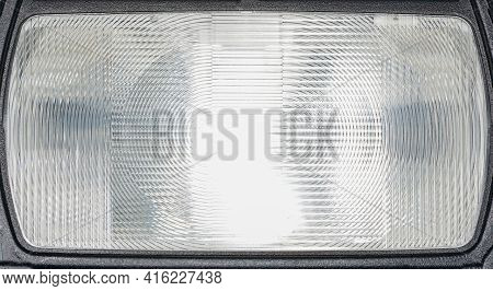Flash Light Of A Camera With Colorful Color Foils Photographed In The Studio