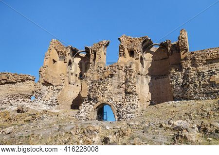 Remains Of Eastern Gates Of Medieval City Ani, Near Kars, Turkey. Founded In 5 Century As Armenian C