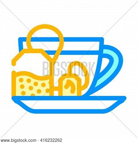 Fat Burning Tea Color Icon Vector. Fat Burning Tea Sign. Isolated Symbol Illustration