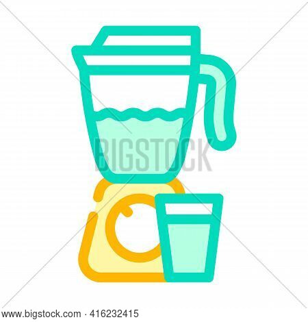 Smoothie Drink Color Icon Vector. Smoothie Drink Sign. Isolated Symbol Illustration