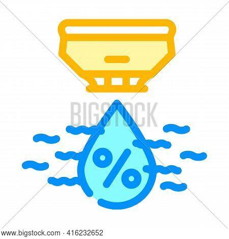 Humidity Sensor Color Icon Vector. Humidity Sensor Sign. Isolated Symbol Illustration