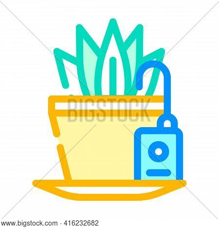 Plant Watering Sensor Color Icon Vector. Plant Watering Sensor Sign. Isolated Symbol Illustration
