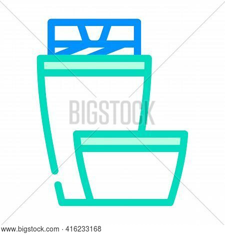 Thermos Tool Color Icon Vector. Thermos Tool Sign. Isolated Symbol Illustration