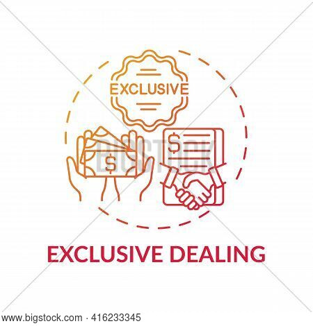 Exclusive Dealing Concept Icon. Anti-competitive Practice Idea Thin Line Illustration. Lessening Com