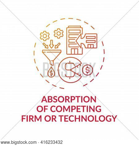 Competing Firm And Technology Absorption Concept Icon. Takeover Idea Thin Line Illustration. Entrepr
