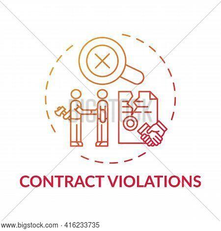 Contract Violations Concept Icon. Consumer Claim Idea Thin Line Illustration. Prejudice To Consumer