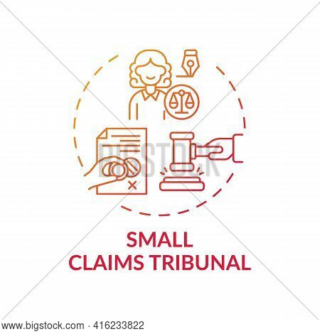 Small Claims Tribunal Concept Icon. Consumer Protection Service Idea Thin Line Illustration. Civil J