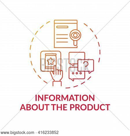 Information About Product Concept Icon. Consumer Right Idea Thin Line Illustration. Protection Again