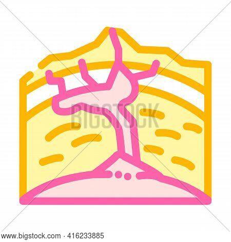 Volcano Formation Process Color Icon Vector. Volcano Formation Process Sign. Isolated Symbol Illustr