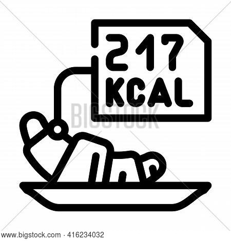 Calorie Counting Line Icon Vector. Calorie Counting Sign. Isolated Contour Symbol Black Illustration