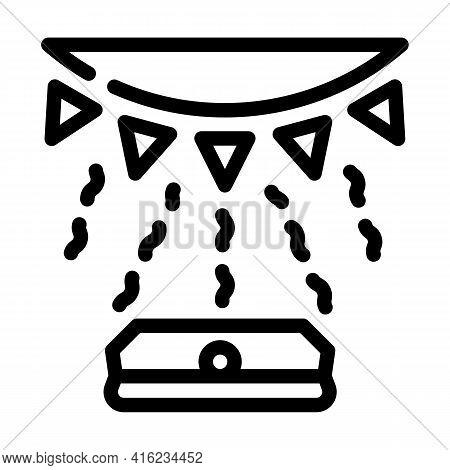 Light Sensor Line Icon Vector. Light Sensor Sign. Isolated Contour Symbol Black Illustration