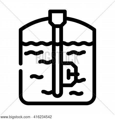 Capacitive Sensor Line Icon Vector. Capacitive Sensor Sign. Isolated Contour Symbol Black Illustrati