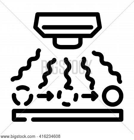 Radio Wave Sensor Line Icon Vector. Radio Wave Sensor Sign. Isolated Contour Symbol Black Illustrati