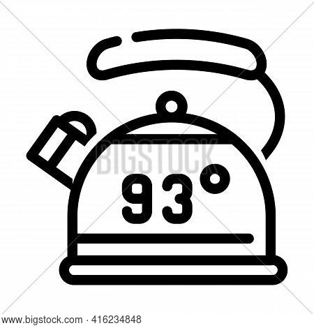Kettle For Boiling Water Line Icon Vector. Kettle For Boiling Water Sign. Isolated Contour Symbol Bl