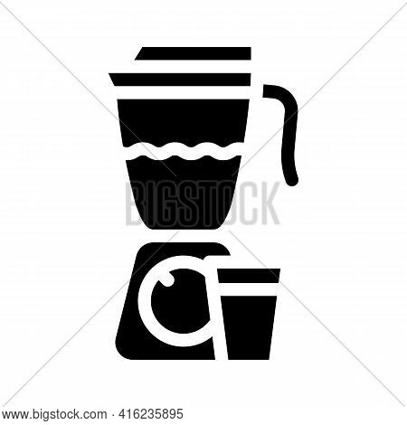 Smoothie Drink Glyph Icon Vector. Smoothie Drink Sign. Isolated Contour Symbol Black Illustration