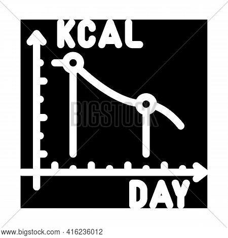Calorie Reduction Gradually Glyph Icon Vector. Calorie Reduction Gradually Sign. Isolated Contour Sy