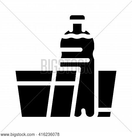 Daily Water Intake Glyph Icon Vector. Daily Water Intake Sign. Isolated Contour Symbol Black Illustr