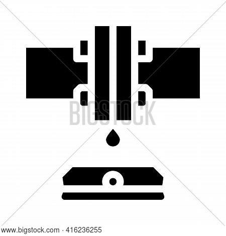 Water Sensor Glyph Icon Vector. Water Sensor Sign. Isolated Contour Symbol Black Illustration