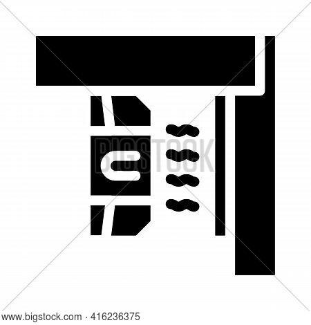 Magnetic Sensor Glyph Icon Vector. Magnetic Sensor Sign. Isolated Contour Symbol Black Illustration