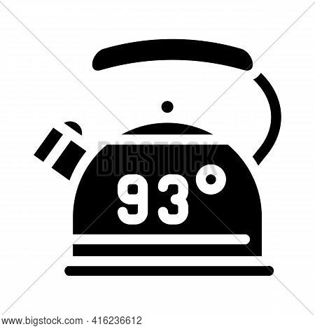 Kettle For Boiling Water Glyph Icon Vector. Kettle For Boiling Water Sign. Isolated Contour Symbol B