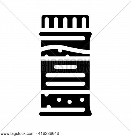 Granulated Tea Bottle Glyph Icon Vector. Granulated Tea Bottle Sign. Isolated Contour Symbol Black I