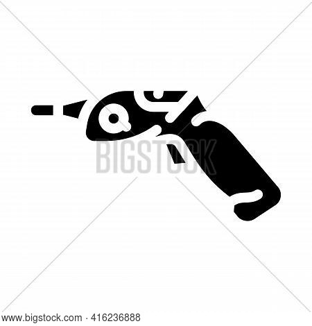 Electric Screwdrivers Tool Glyph Icon Vector. Electric Screwdrivers Tool Sign. Isolated Contour Symb
