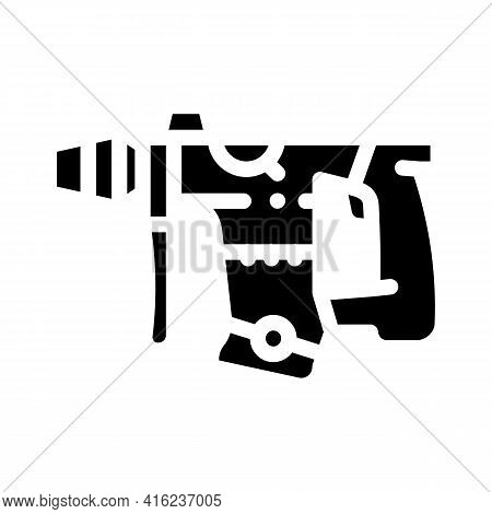 Perforator Tool Glyph Icon Vector. Perforator Tool Sign. Isolated Contour Symbol Black Illustration