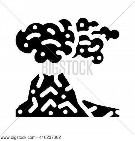 Peleus Type Eruption Glyph Icon Vector. Peleus Type Eruption Sign. Isolated Contour Symbol Black Ill
