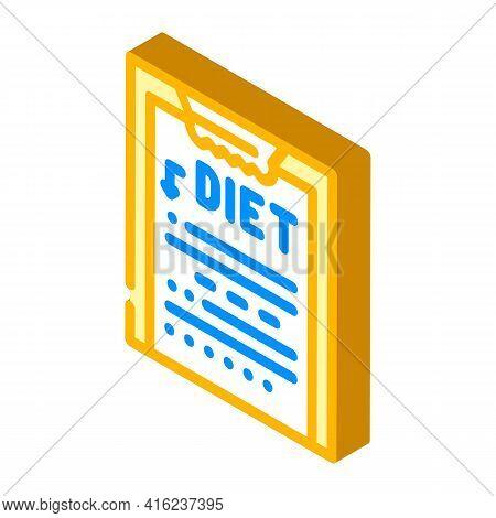 Description Diet Isometric Icon Vector. Description Diet Sign. Isolated Symbol Illustration