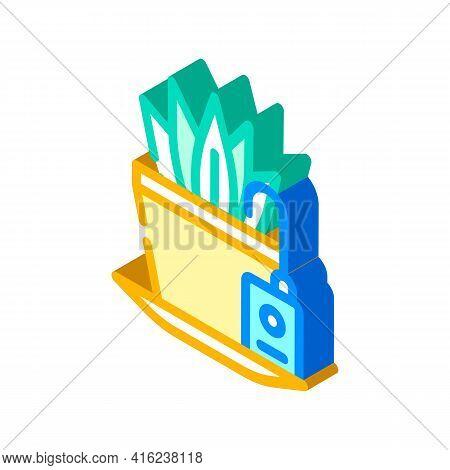 Plant Watering Sensor Isometric Icon Vector. Plant Watering Sensor Sign. Isolated Symbol Illustratio