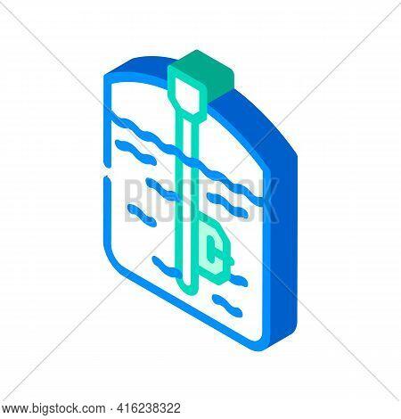 Capacitive Sensor Isometric Icon Vector. Capacitive Sensor Sign. Isolated Symbol Illustration
