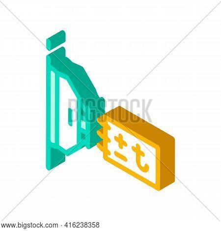Thermal Sensor Isometric Icon Vector. Thermal Sensor Sign. Isolated Symbol Illustration