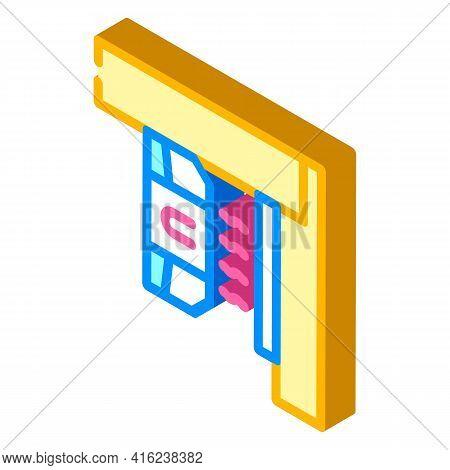 Magnetic Sensor Isometric Icon Vector. Magnetic Sensor Sign. Isolated Symbol Illustration