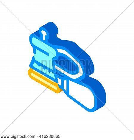 Orbital Sander Tool Isometric Icon Vector. Orbital Sander Tool Sign. Isolated Symbol Illustration