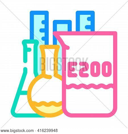 Chemical Inventory Food Additives Color Icon Vector. Chemical Inventory Food Additives Sign. Isolate