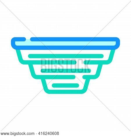 Folding Lunchbox Color Icon Vector. Folding Lunchbox Sign. Isolated Symbol Illustration