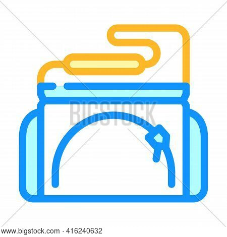Sports Lunchbox Bag Color Icon Vector. Sports Lunchbox Bag Sign. Isolated Symbol Illustration
