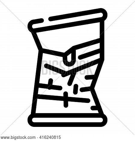 Bad Damaged Canned Food Line Icon Vector. Bad Damaged Canned Food Sign. Isolated Contour Symbol Blac