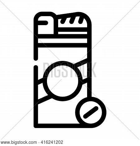 Sugar Substitute Line Icon Vector. Sugar Substitute Sign. Isolated Contour Symbol Black Illustration