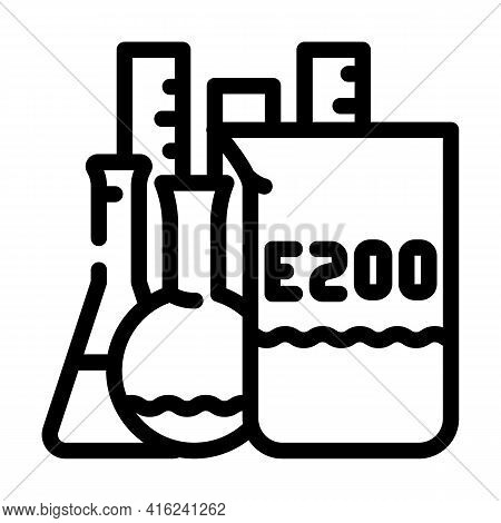 Chemical Inventory Food Additives Line Icon Vector. Chemical Inventory Food Additives Sign. Isolated