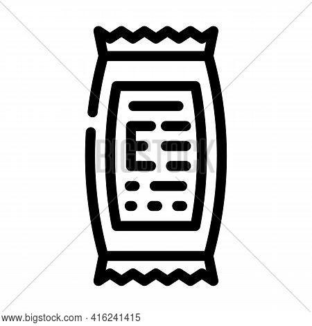 Description Of Food Additives Line Icon Vector. Description Of Food Additives Sign. Isolated Contour