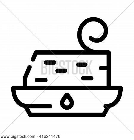 Trans Fat Line Icon Vector. Trans Fat Sign. Isolated Contour Symbol Black Illustration
