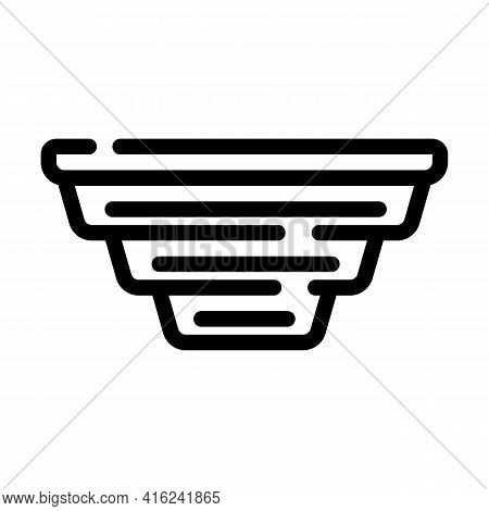 Folding Lunchbox Line Icon Vector. Folding Lunchbox Sign. Isolated Contour Symbol Black Illustration