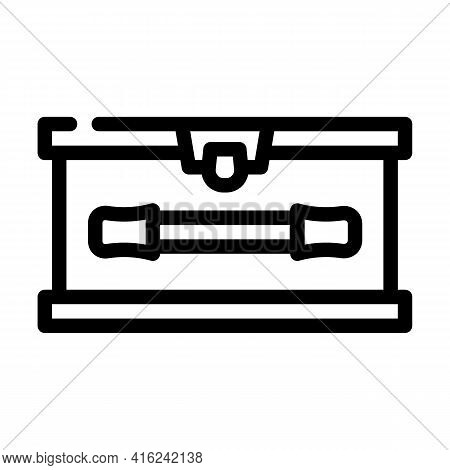Lunchbox With Handle Line Icon Vector. Lunchbox With Handle Sign. Isolated Contour Symbol Black Illu