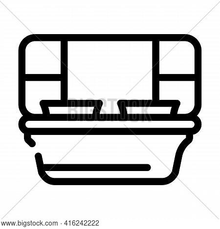 Sections Lunchbox Line Icon Vector. Sections Lunchbox Sign. Isolated Contour Symbol Black Illustrati
