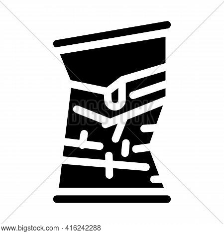 Bad Damaged Canned Food Glyph Icon Vector. Bad Damaged Canned Food Sign. Isolated Contour Symbol Bla