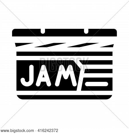 Jam Canned Food Glyph Icon Vector. Jam Canned Food Sign. Isolated Contour Symbol Black Illustration